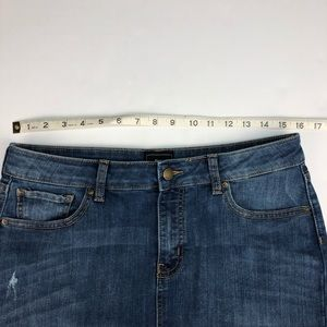GAP Skirts - GAP Denim Mini Skirt with Raw Hem Distressed 10
